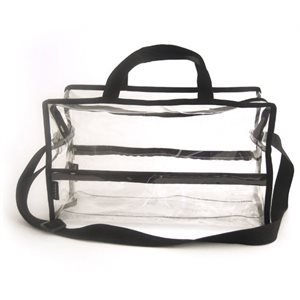 MST-009 Shoulder Bag Lg Clear / Black
