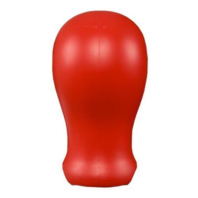 Forme de Tête en Plastique Rouge