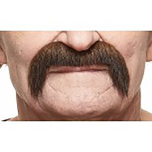Moustache - Brown / Red - 10.5 x 7.5 cm